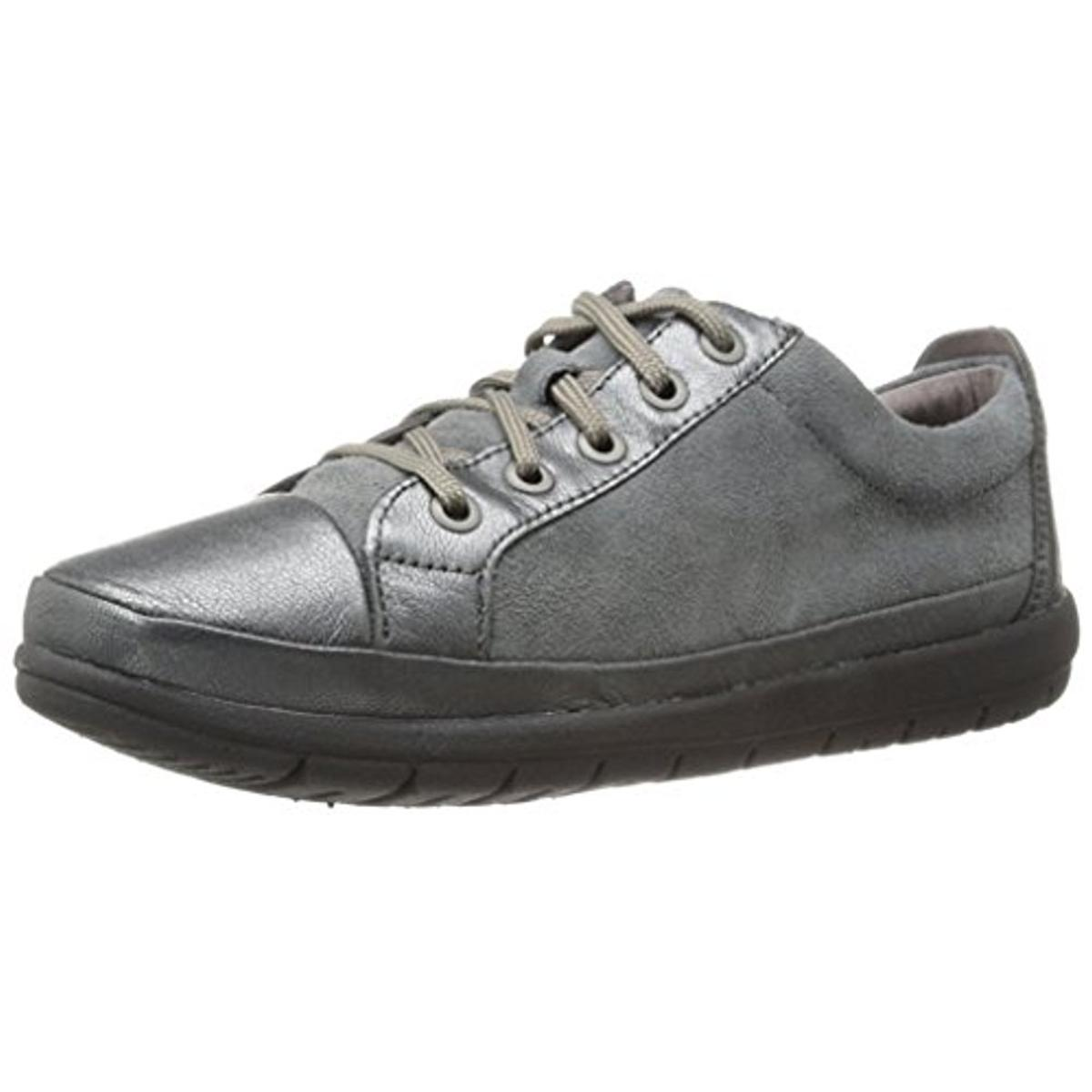 Easy Spirit 8248 Womens Canisa Gray Suede Oxfords Shoes 6 ...