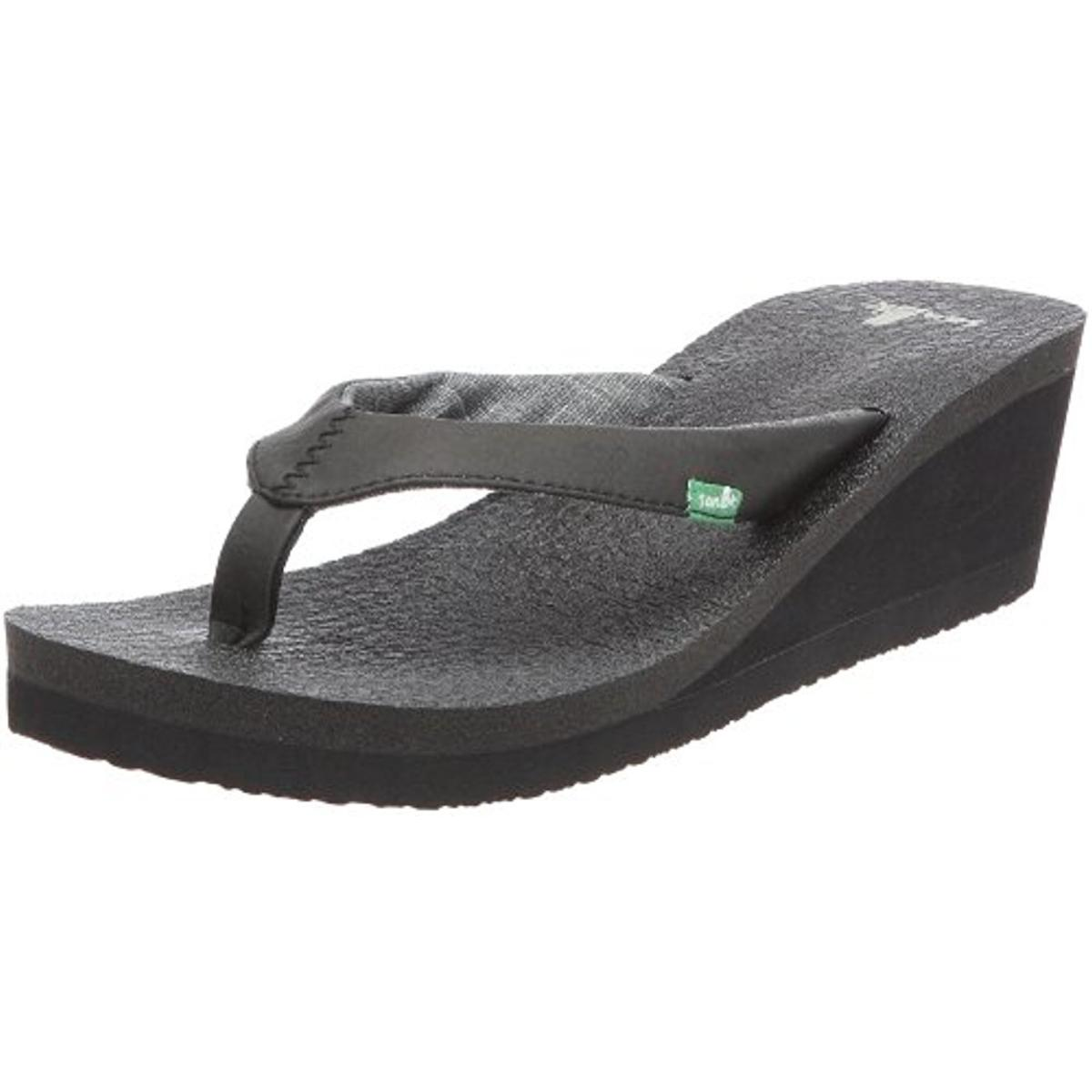 Sanuk Yoga Shoes Amazon: Sanuk 8978 Womens Yoga Mat Slide Thong Wedge Sandals Shoes