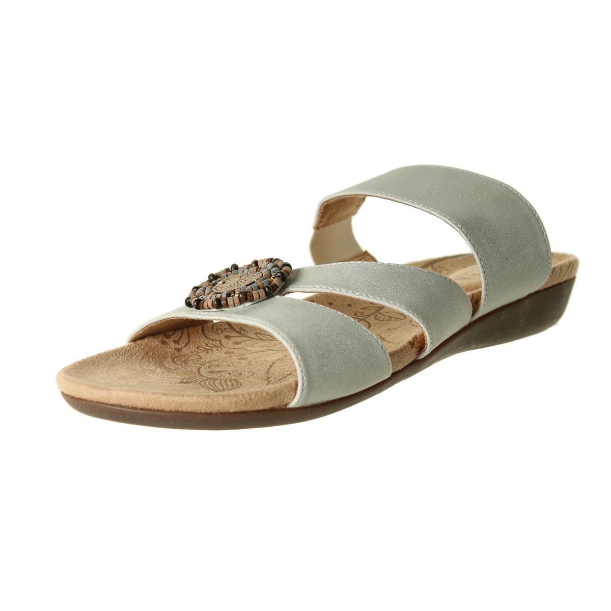 acorn 9672 womens samoset leather beaded slide sandals
