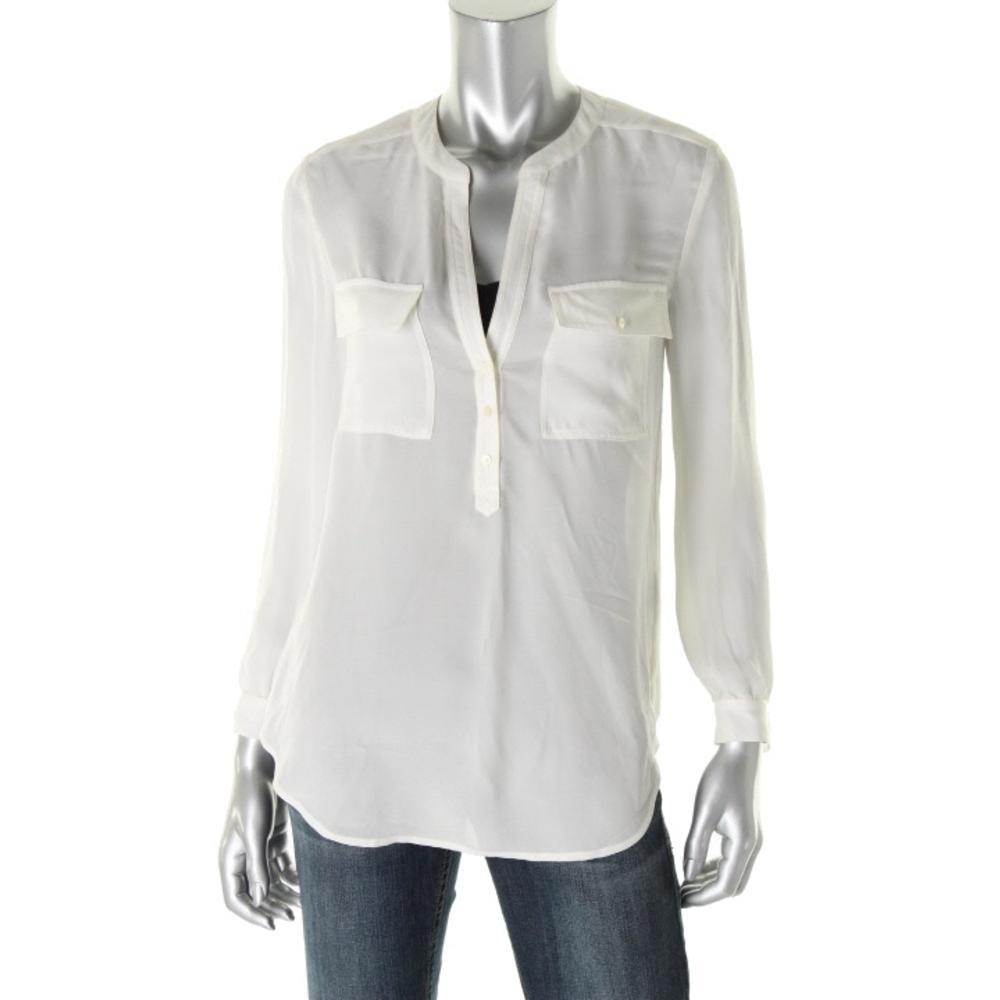 White Silk Blouse Ebay 37