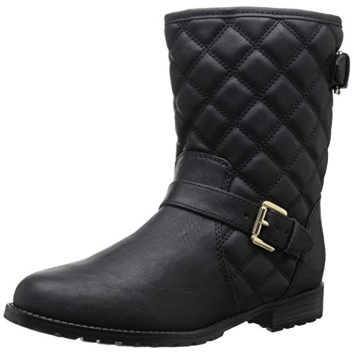 Sporto 7578 Womens Judy Faux Leather Quilted Ankle Winter Boots