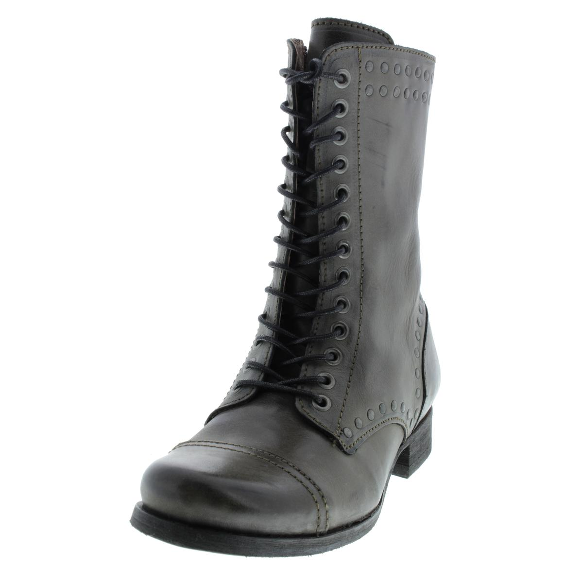 Diesel 2089 Womens The Wild Land Arthik Leather Combat Lace-Up ...