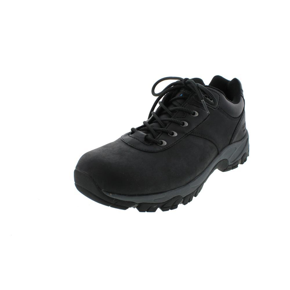 hi tec 8408 new mens black leather hiking trail shoes