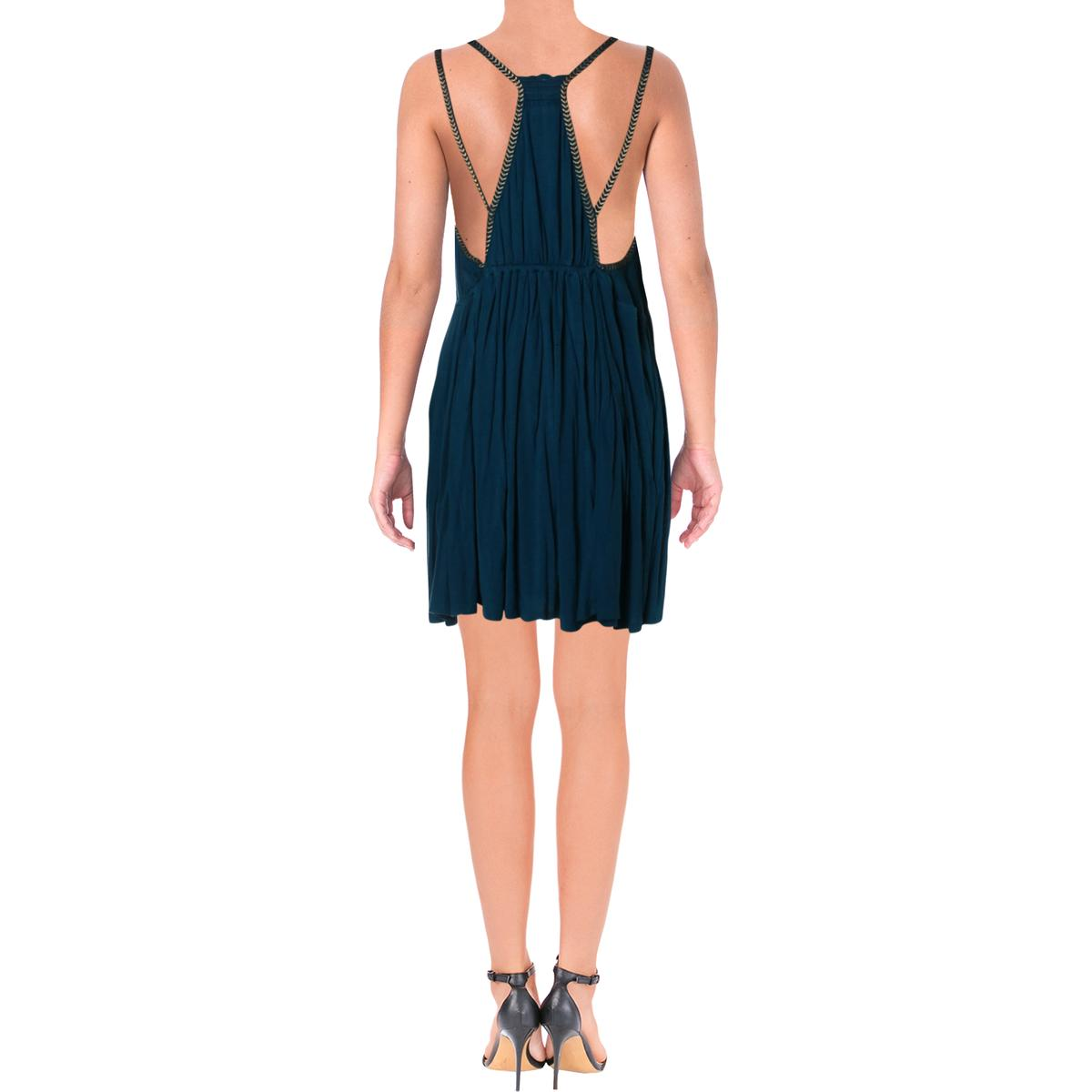 Free People Womens Lovers Cove Embroidered V-Neck Clubwear Mini Dress BHFO 3037