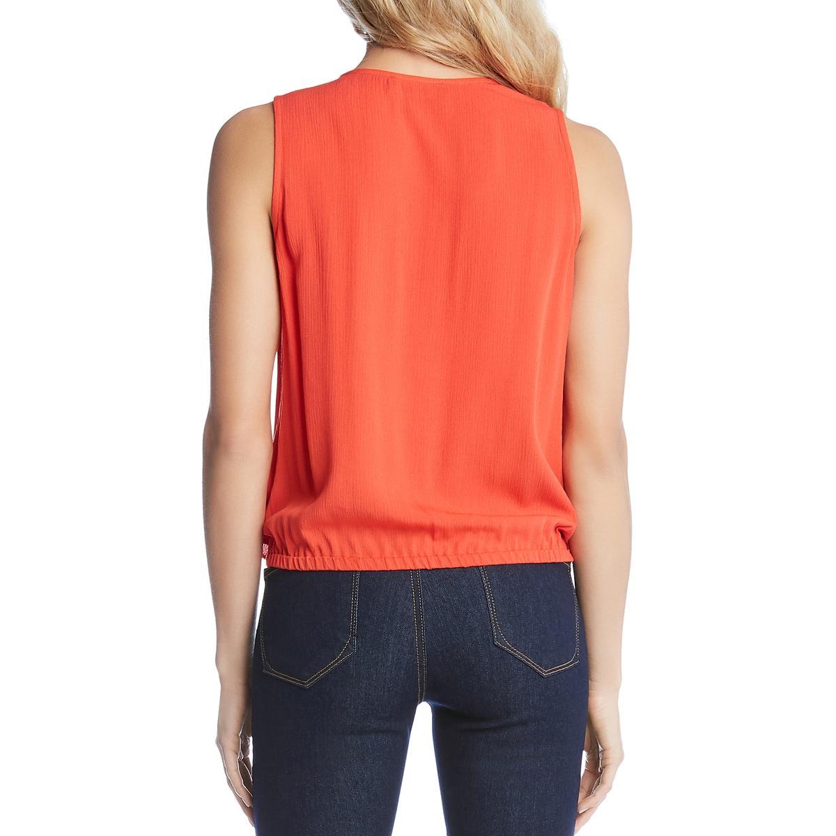 Karen Kane Womens Layered Tie-Front Sleeveless Top Shirt BHFO 7178