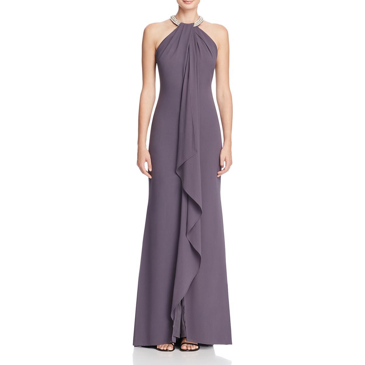 a4e83a1a375 aidan by Aidan Mattox Womens Embellished Halter Evening Dress