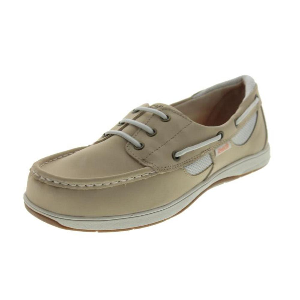 ryka 5156 womens chatham leather slip on casual boat shoes