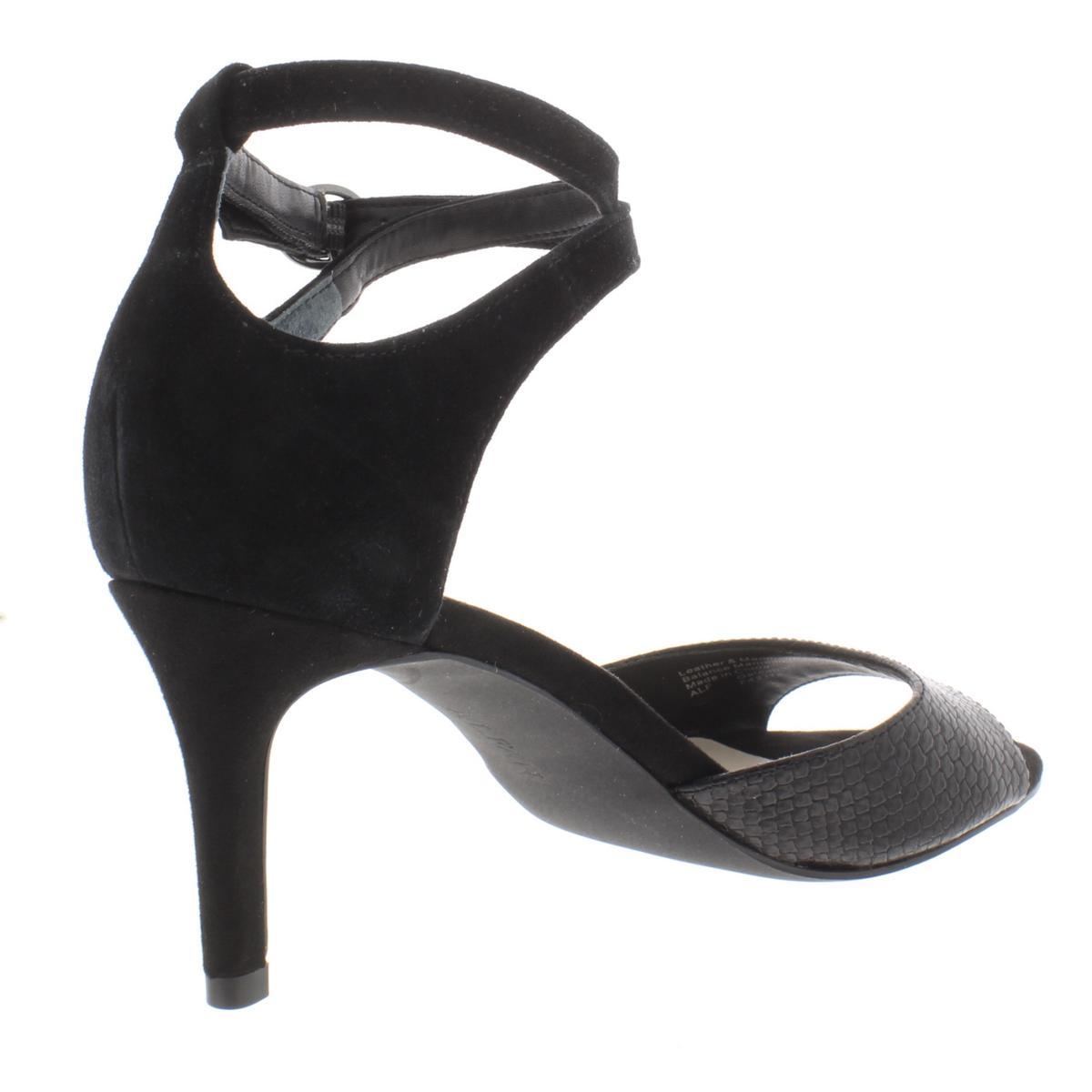 Alfani Womens Galeah Embossed Ankle Strap Heels Dress Sandals Shoes BHFO 7878