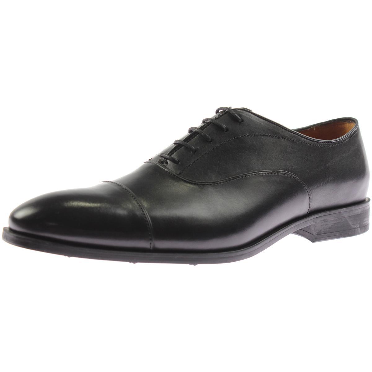 zara 5246 mens black leather formal oxfords shoes 9 medium