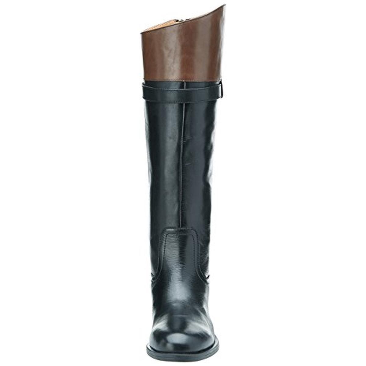 Nine West 1184 Womens Velika Black Leather Riding Boots 5 Medium ...