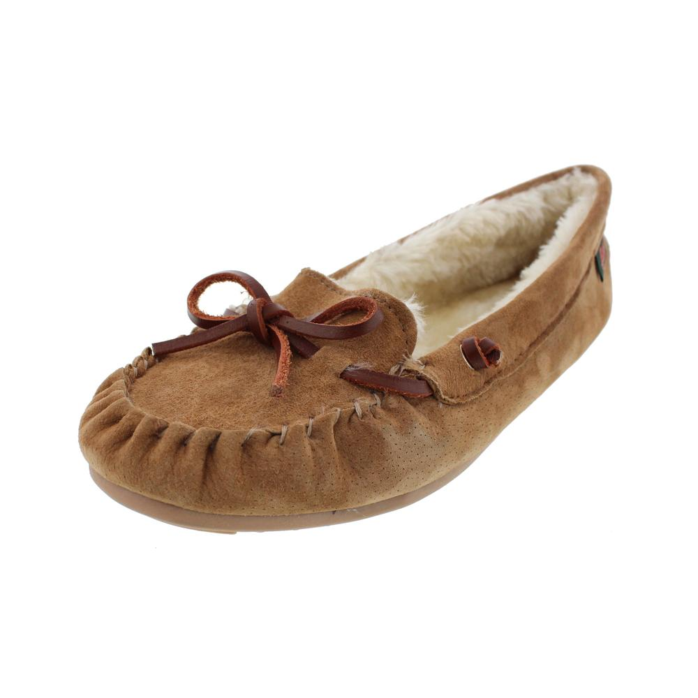 G.H. Bass & Co. Suede Indoor/Outdoor Moccasin Slippers