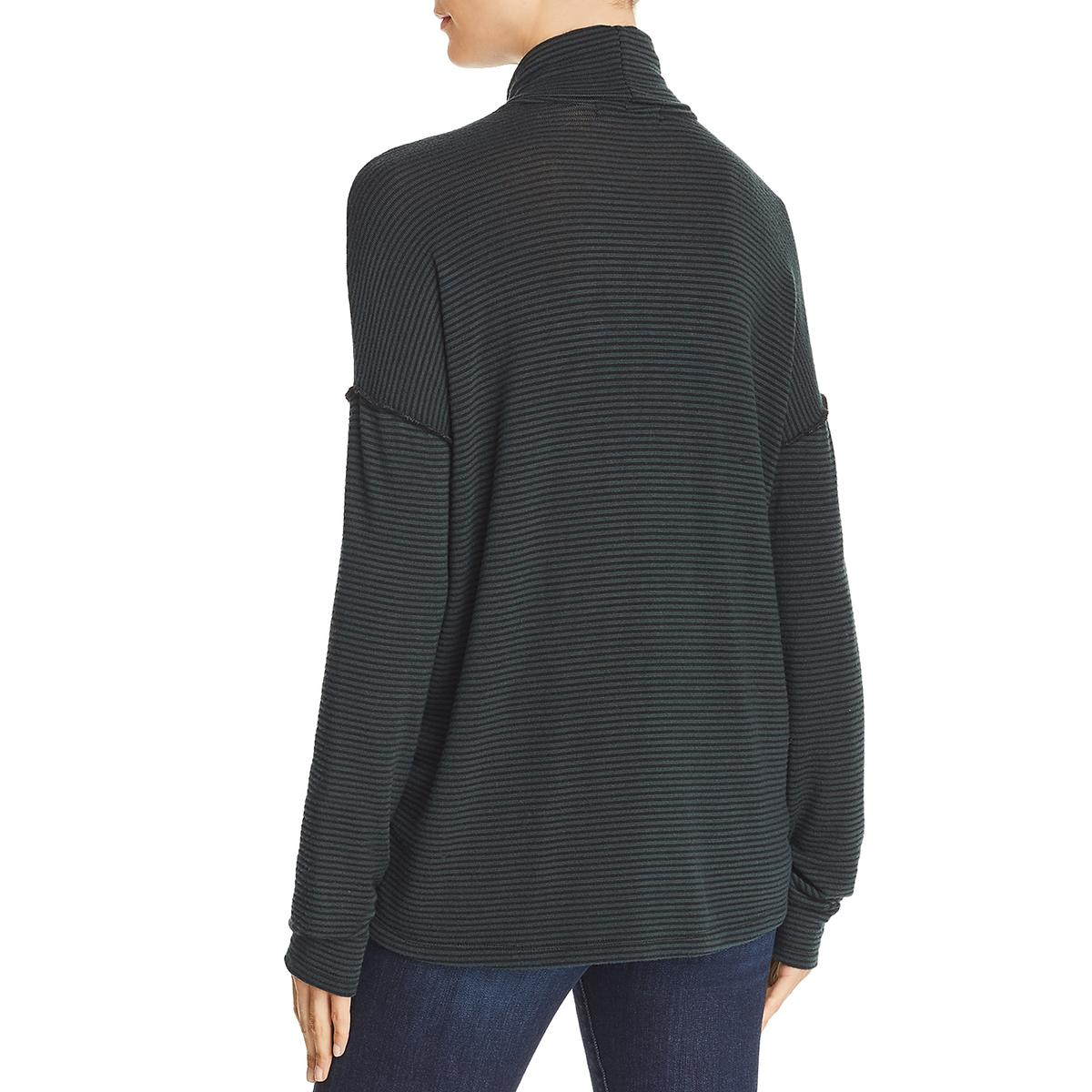 Philanthropy Womens Nickel Modal Striped Turtleneck Top Shirt BHFO 4404