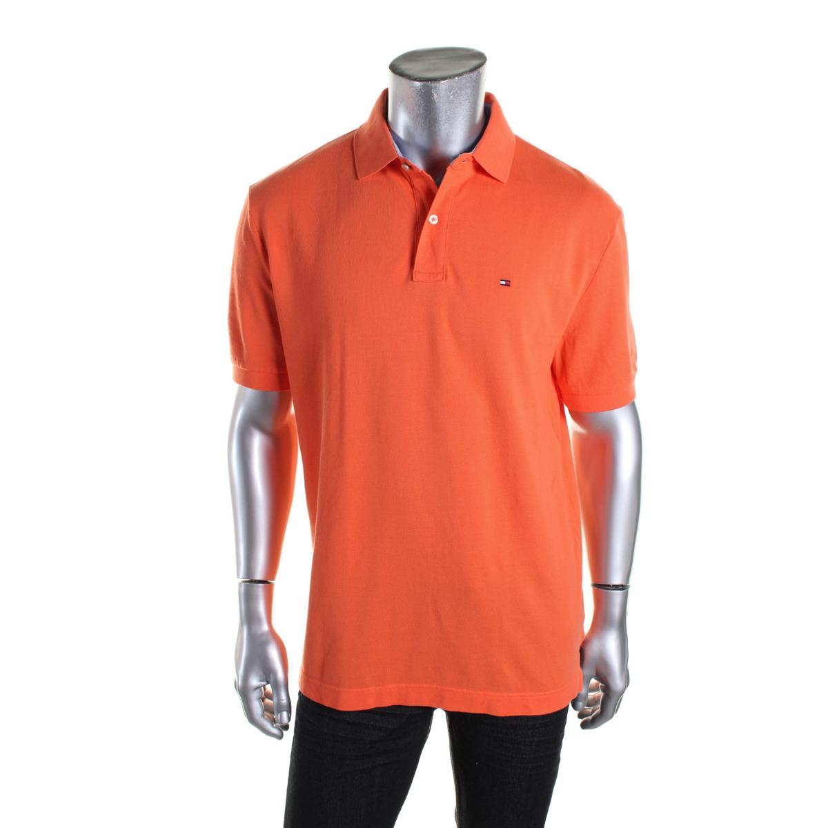 Tommy Hilfiger 9289 Mens Cotton Classic Fit Monogram Polo