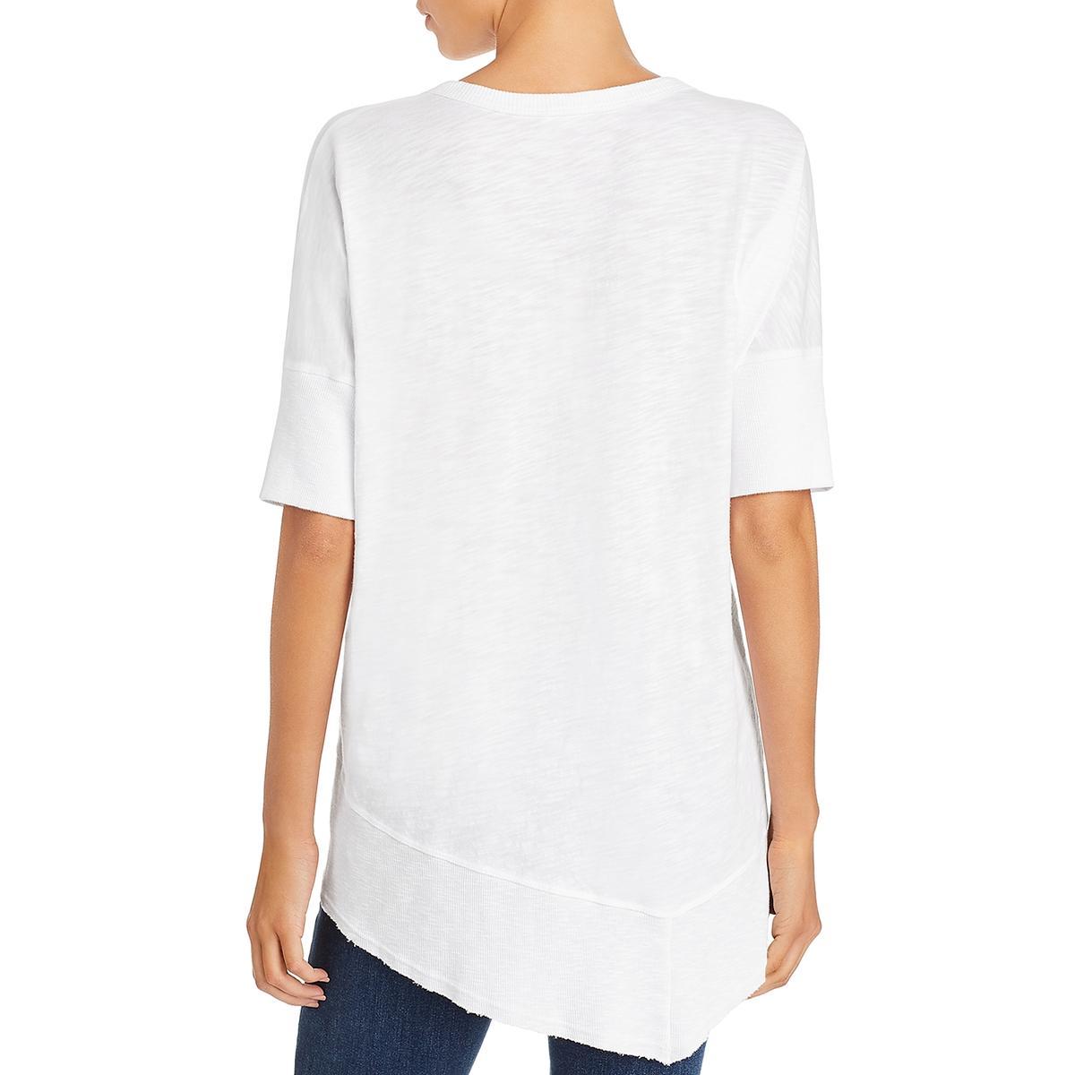 Wilt Womens Cotton V-Neck Short Sleeve Top Shirt BHFO 4235