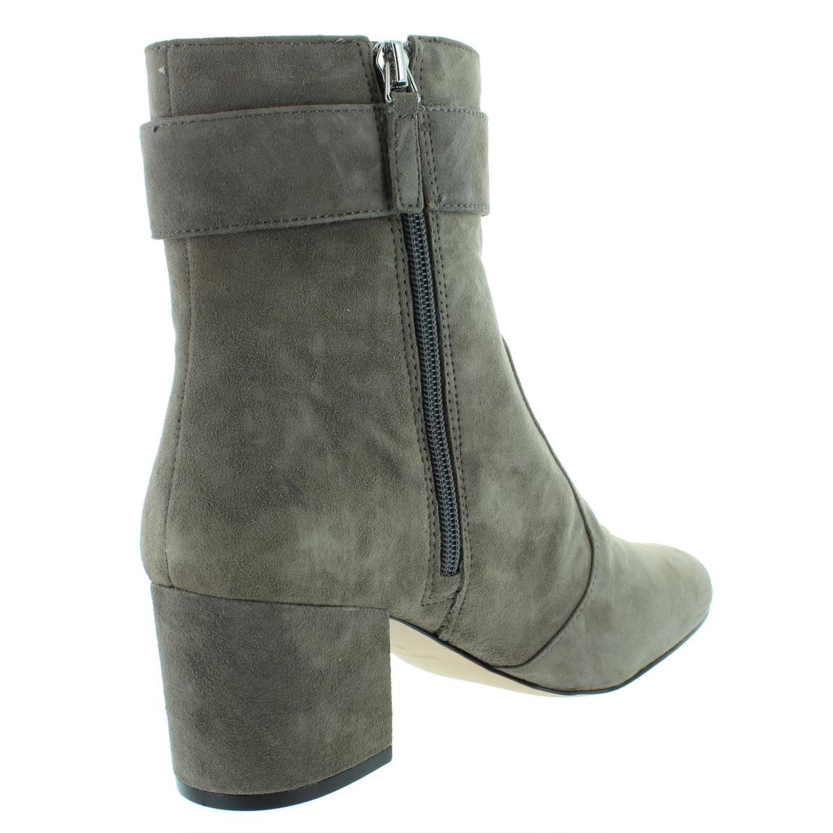 Nine West Womens Quilby Suede Block Heel Ankle Booties Shoes BHFO 7050