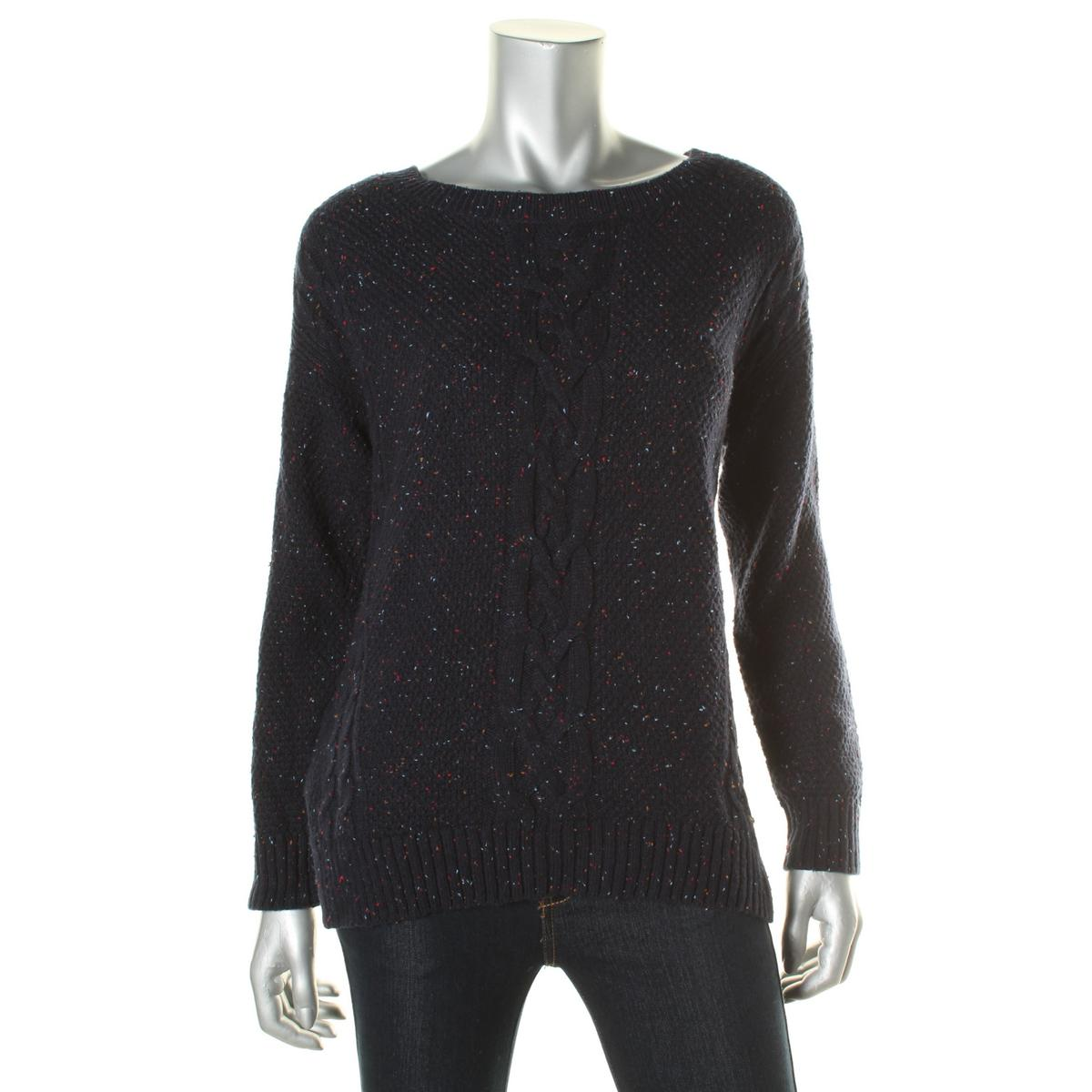 tommy hilfiger 2642 womens cable knit crew neck pullover sweater top bhfo ebay. Black Bedroom Furniture Sets. Home Design Ideas