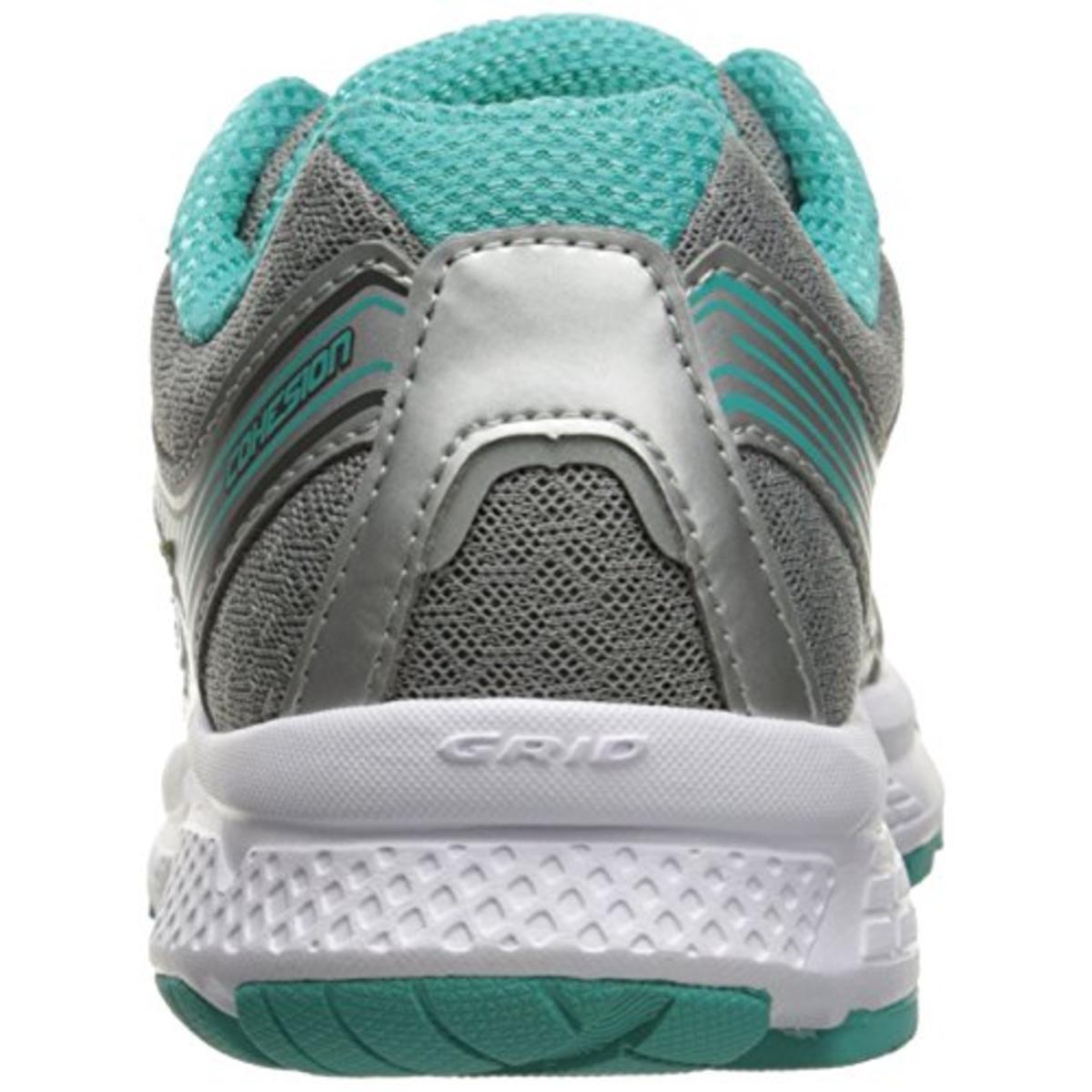 BHFO 1201 B,M Saucony Womens Grid Cohesion 10 Gray Running Shoes 10 Medium