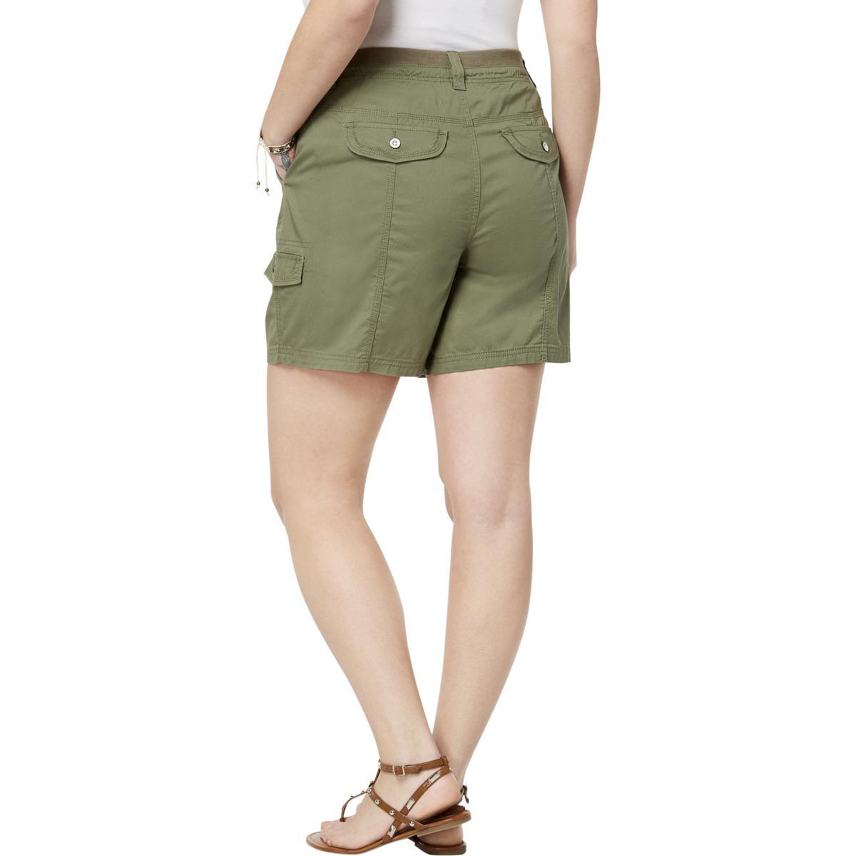 Style /& Co Womens Mid-Rise Comfort Waist Everyday Cargo Shorts Plus BHFO 9102