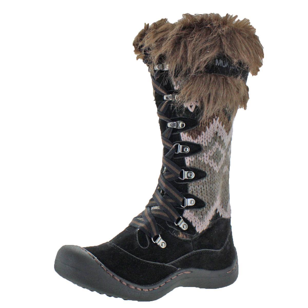 64649dfd511 Muk Luks Gwen Womens Faux Fur Knee-High Snow Boots