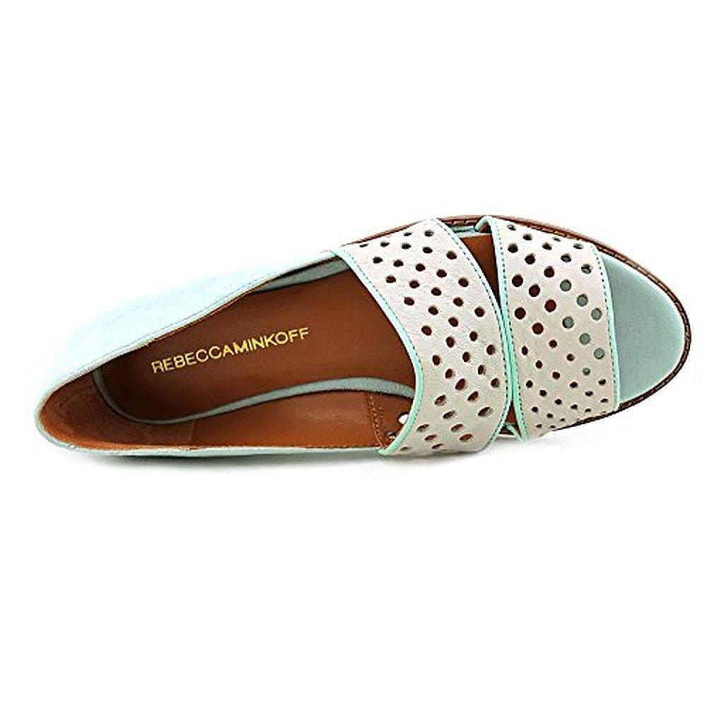 REBECCA MINKOFF Sadie Suede Perforated Peep-Toe Shoes