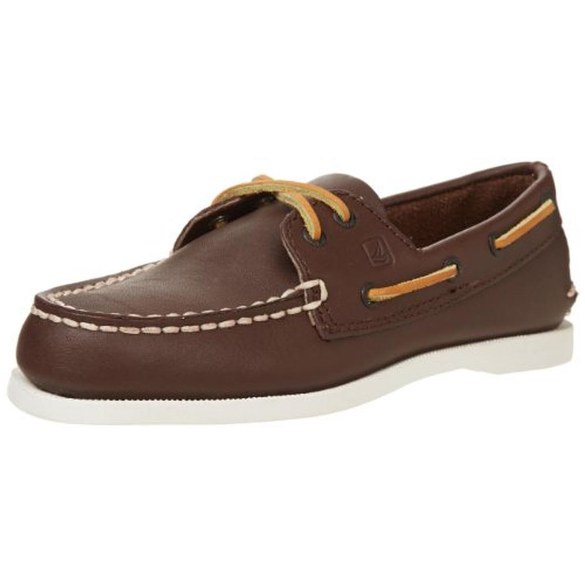 Sperry 0504 Brown Leather Toddler Boys Boat Shoes Sneakers