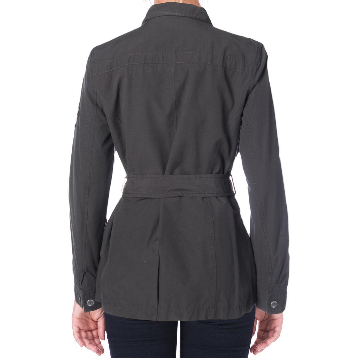 Buffalo David Bitton Womens Spring Parka Denim Jacket ...