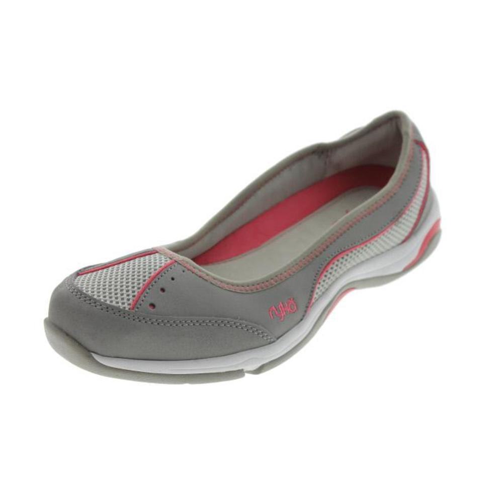ryka new tensile leather slip on ballet flats shoes bhfo