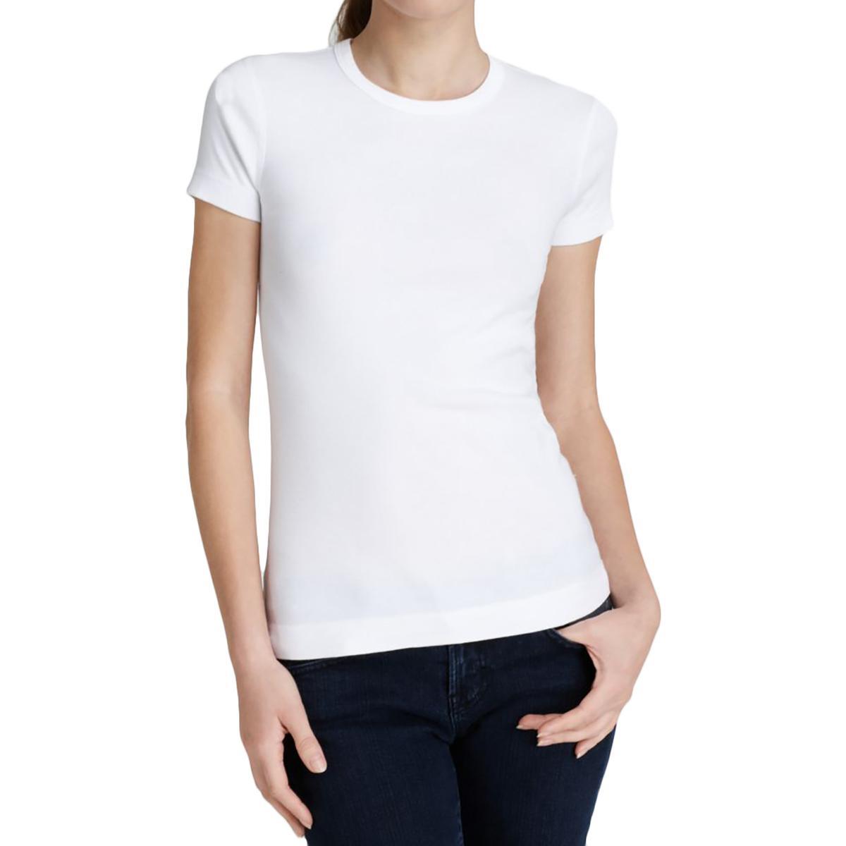 Three Dots 6226 Womens Cotton Short Sleeves Crewneck T