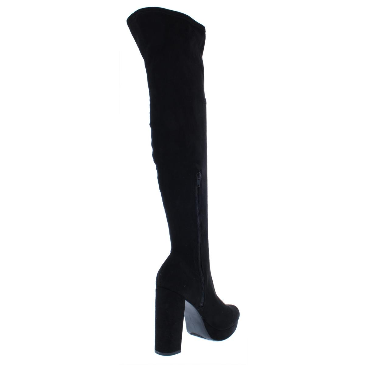 Madden Girl Womens Groupie Tall Over-The-Knee Boots Heels BHFO 5567