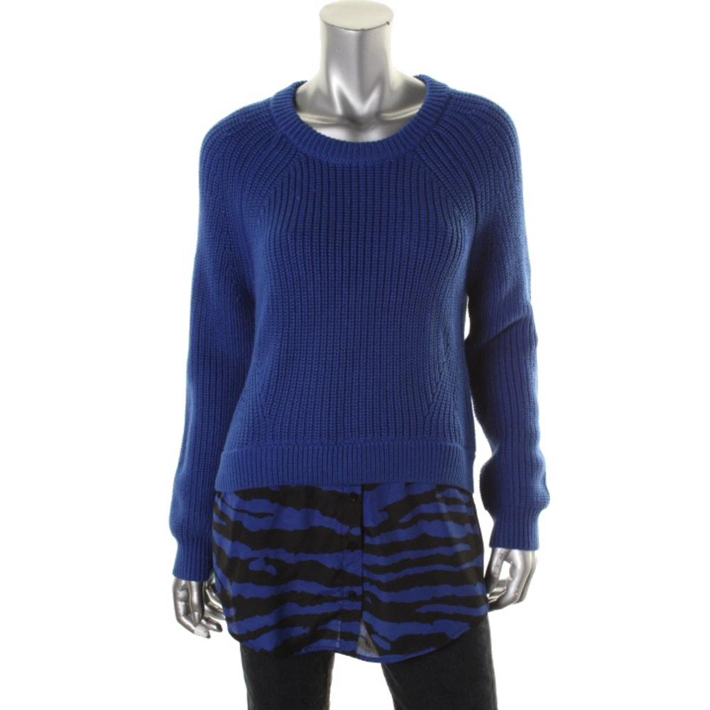 michael michael kors 4497 womens knit 2 in 1 pullover sweater tunic bhfo ebay. Black Bedroom Furniture Sets. Home Design Ideas