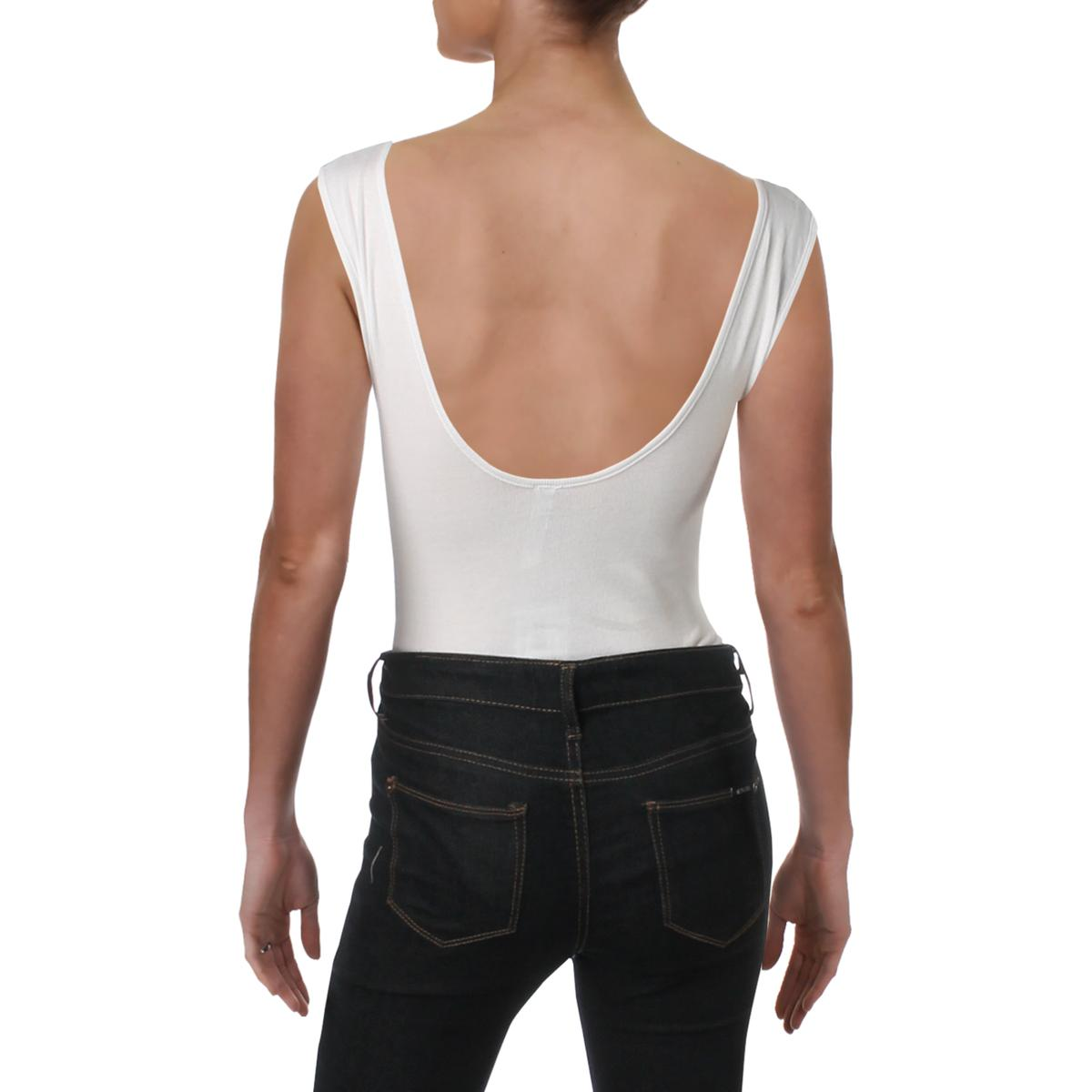 Free People Womens Take Me Out Ribbed Knit Sleeveless Bodysuit Top BHFO 0109
