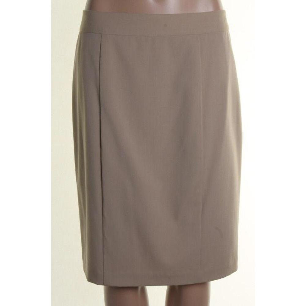 nanette lepore new beige pleated flat front knee length a