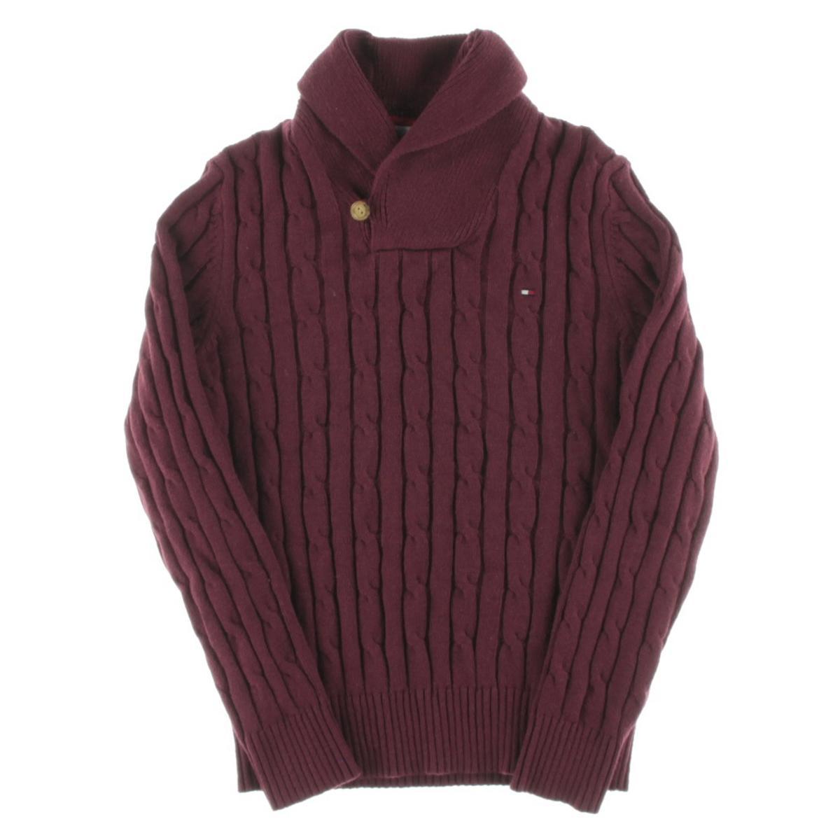 tommy hilfiger 8228 mens cable knit wool blend pullover. Black Bedroom Furniture Sets. Home Design Ideas