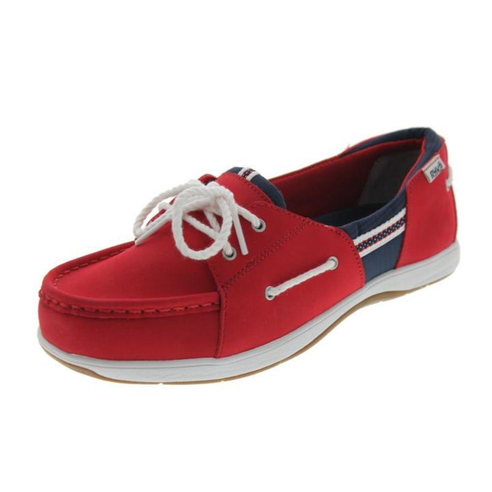 ryka 7747 womens cayman leather slip on flat boat shoes