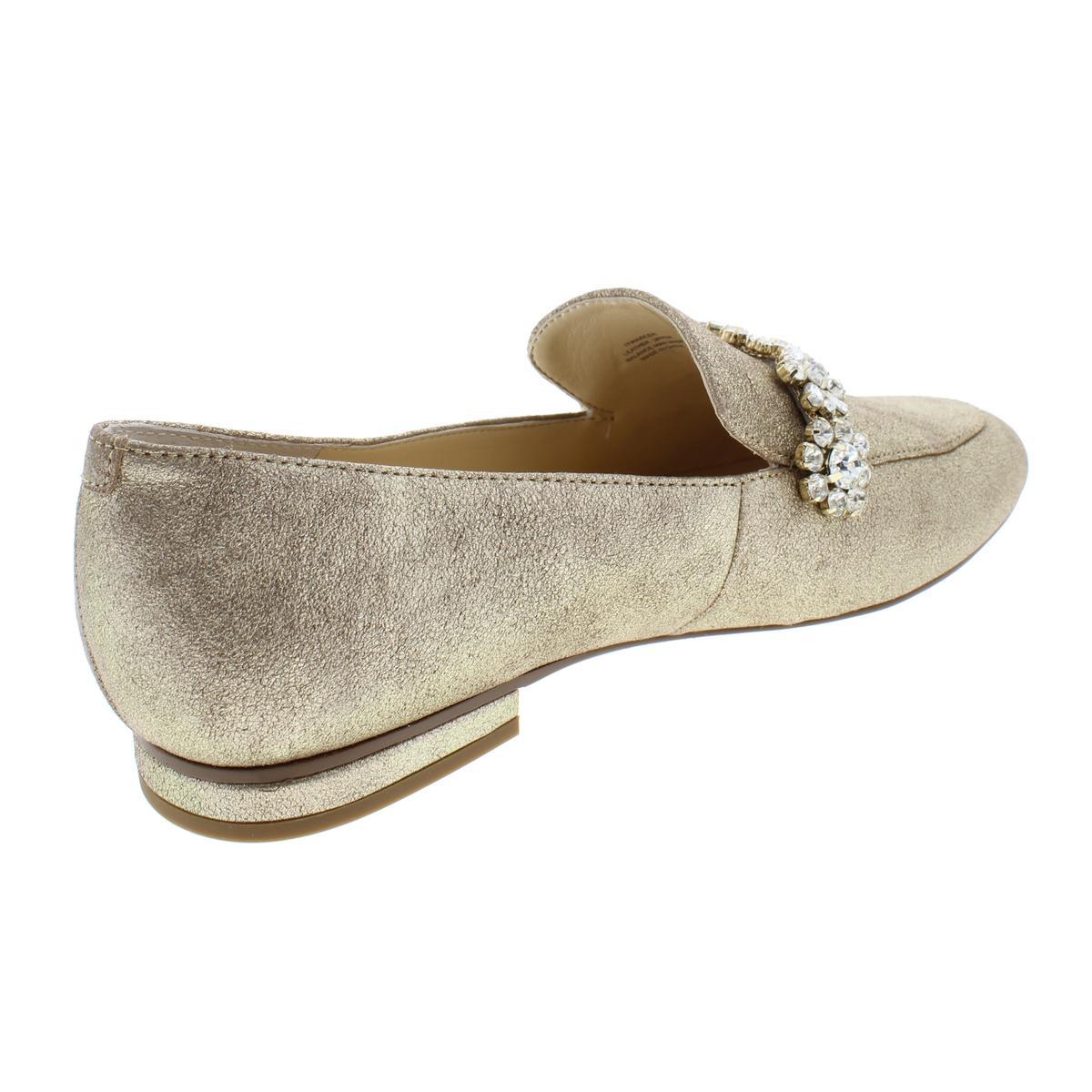 Ivanka Trump Womens Wareen Leather Rhinestones Fashion Loafers Shoes BHFO 9685