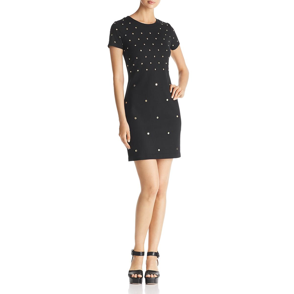 7c42510b40cf Michael Kors Womens Studded Day To Night Casual Dress