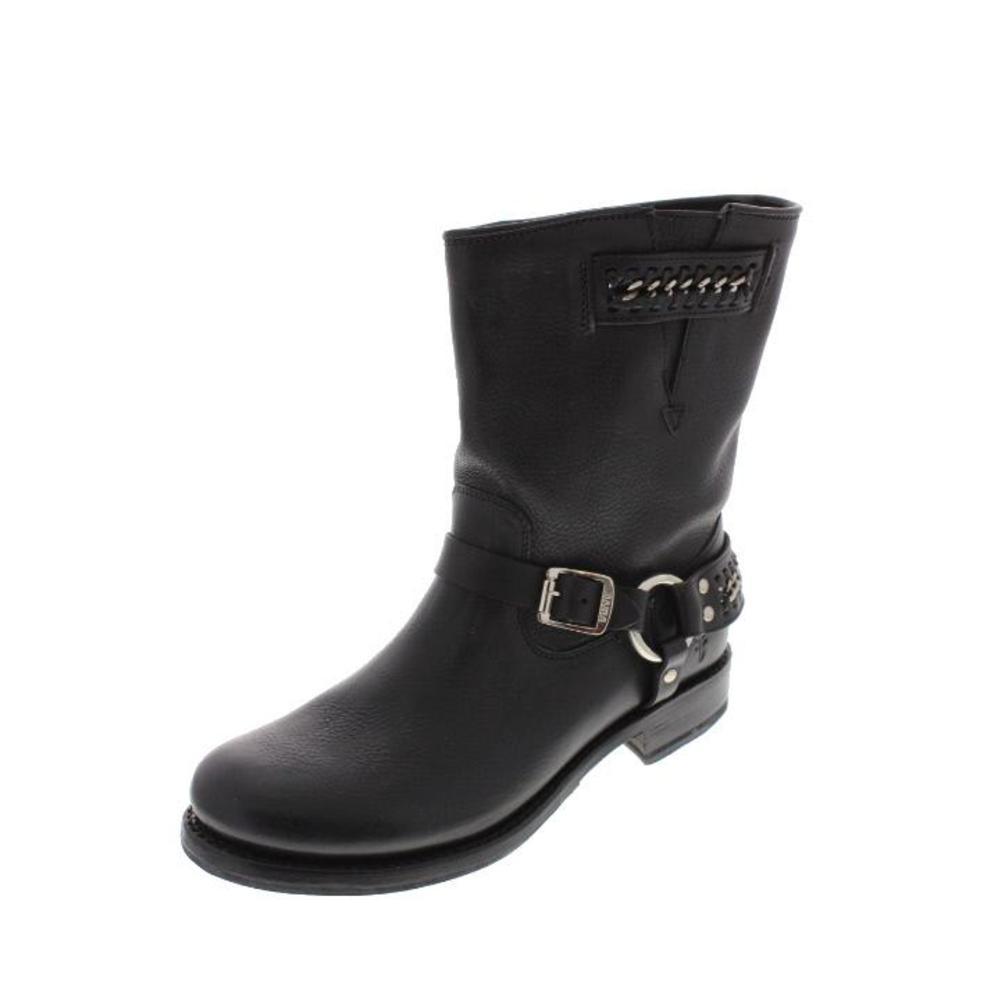 Frye NEW Jenna Black Leather Harness Motorcycle Boots 7 BHFO   eBay