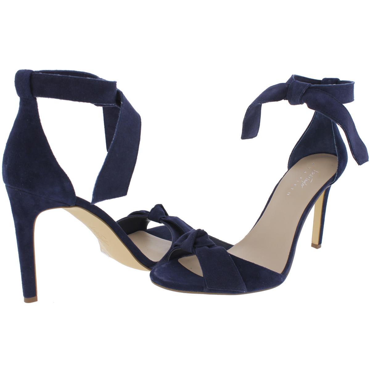 424 Fifth Womens Faye Suede Evening Stilettos Dress Sandals Heels BHFO 2995