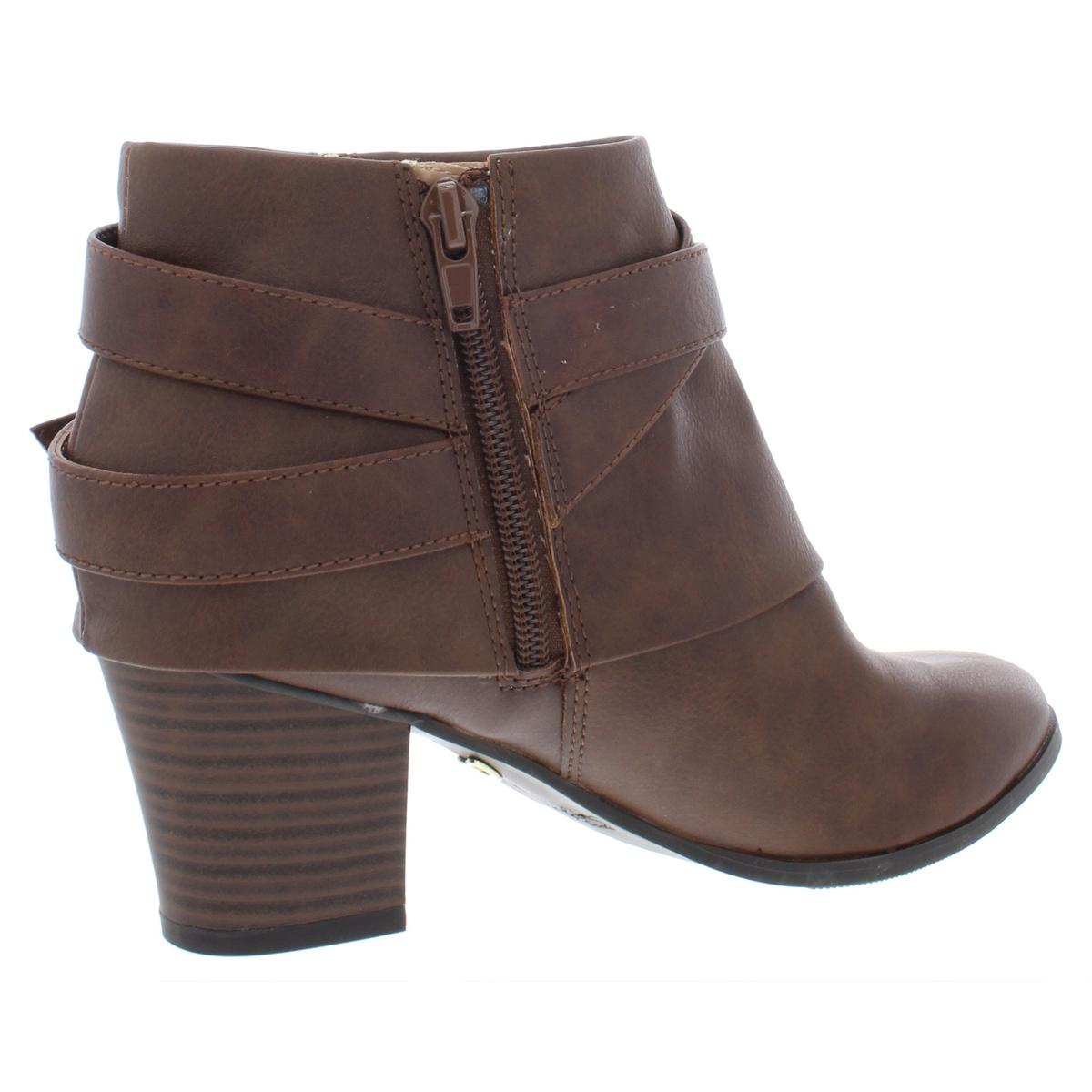 Thalia Sodi Womens Tully Faux Leather Block Heel Ankle Booties Shoes BHFO 9937