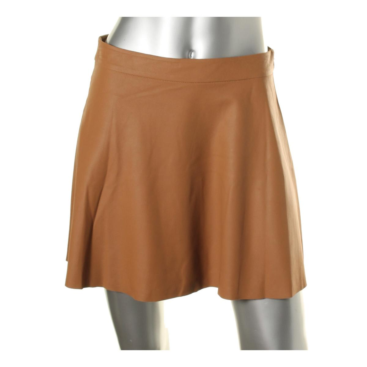 Unique Womens Leather Aline Skirt  Womens Skirts  Abercrombiecouk