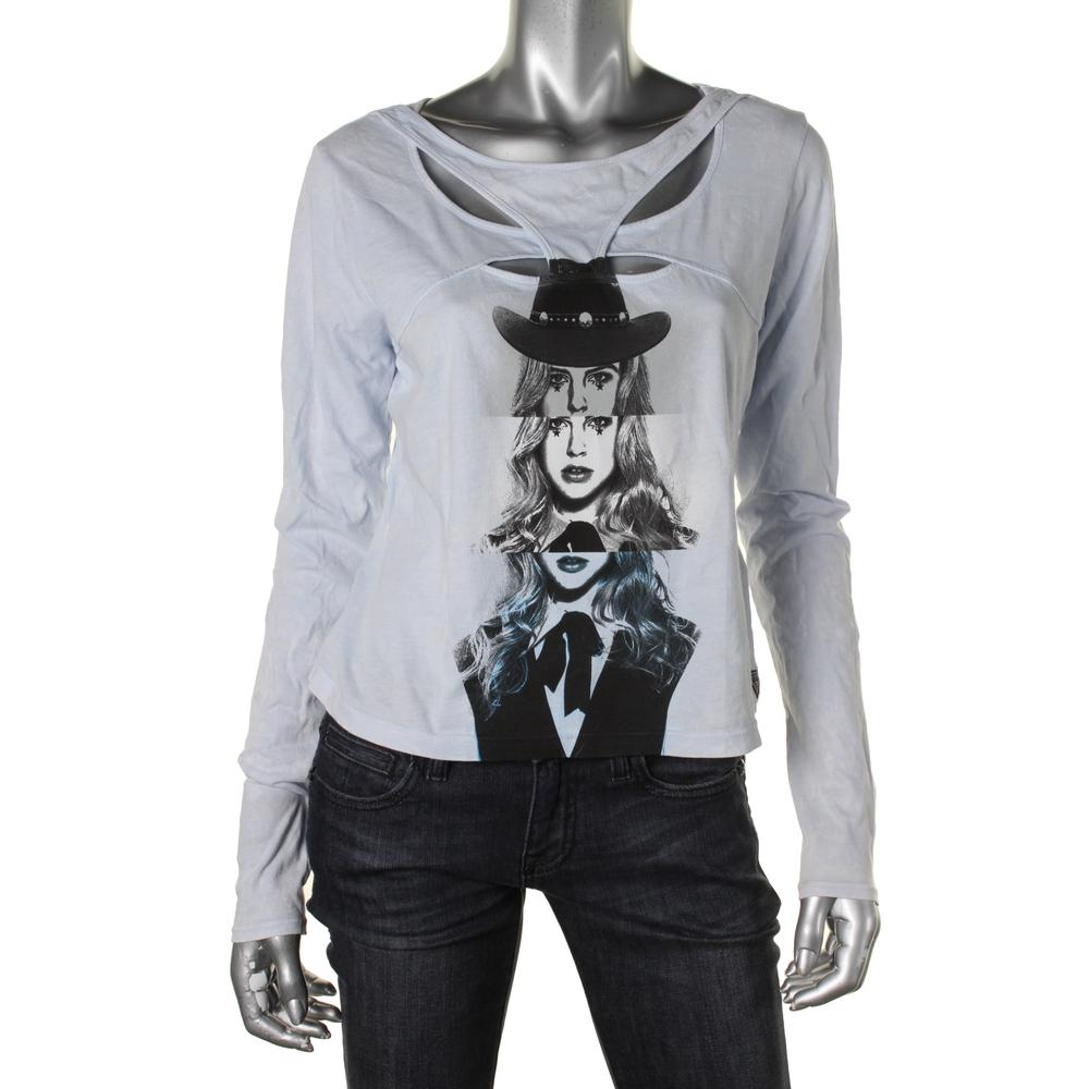 Guess Jersey Cut-Out Graphic Tee