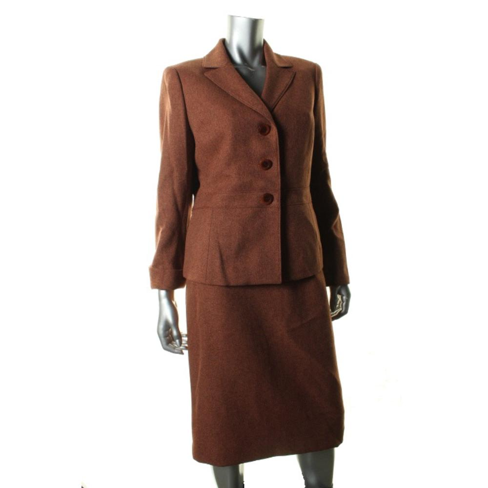 Le Suit Herringbone Skirt And Jacket Suit Jcpenney