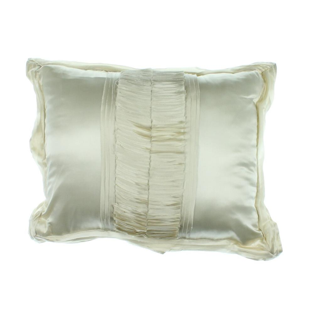 Martha Stewart Decorative Bed Pillows : Martha Stewart NEW Trousseau Ivory Silk Decorative Pillow Bedding 16x20 Bhfo eBay