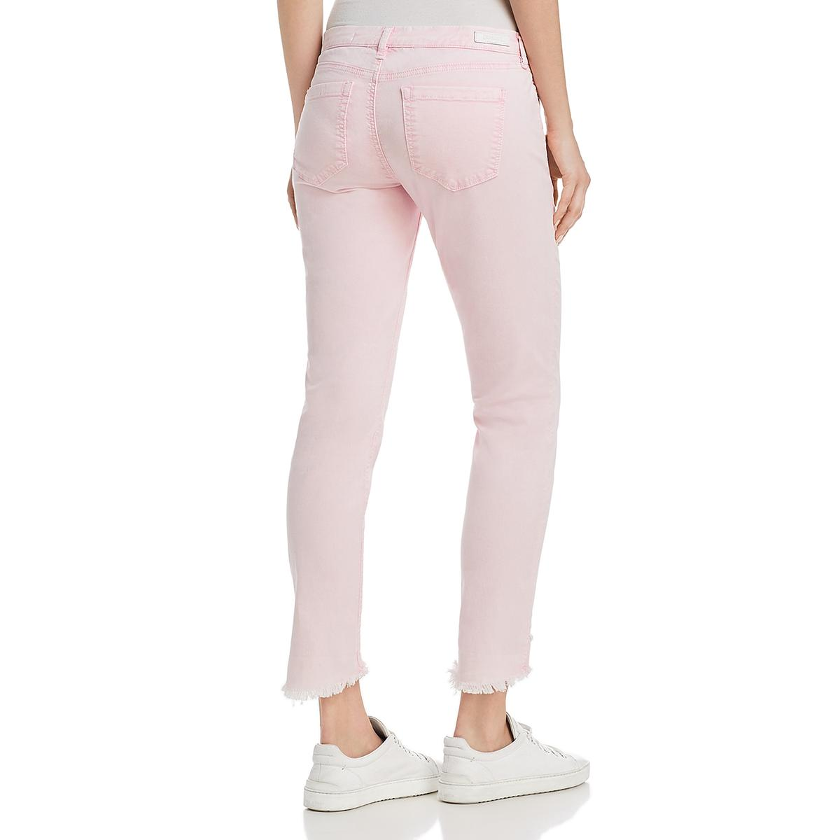 Blank NYC Womens Reade Frayed Hem Cropped Colored Skinny Jeans BHFO 9012