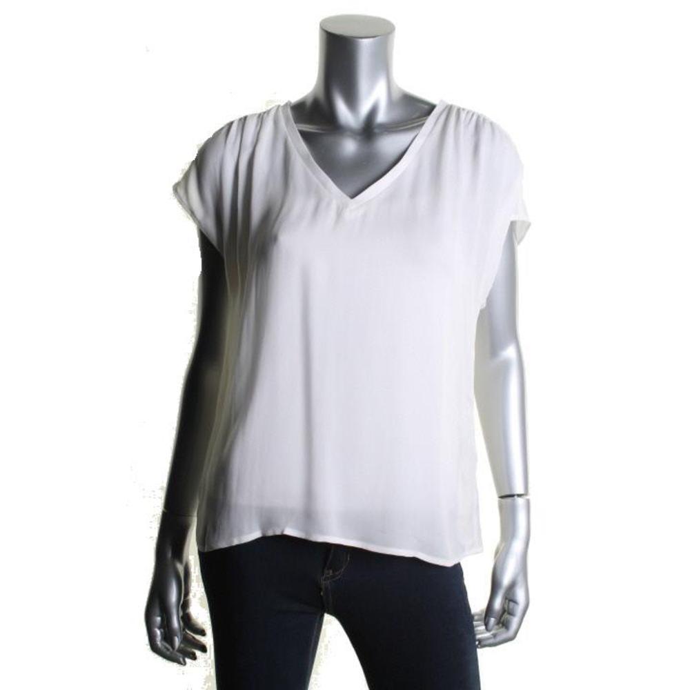 White Silk Blouse Ebay 81