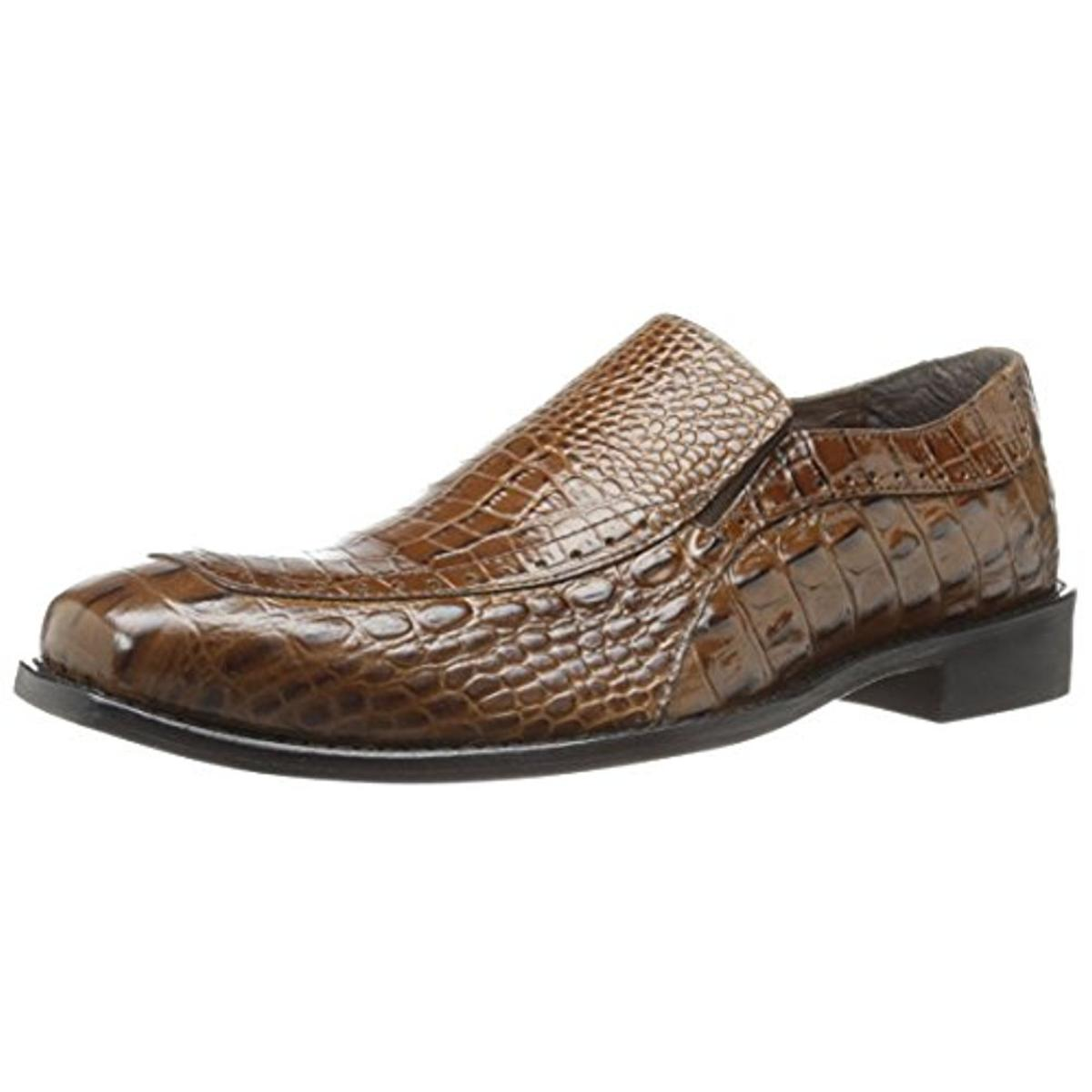 Stacy Adams 0133 Mens Parisi Brown Leather Formal Loafers Shoes 9 Wide (E) BHFO