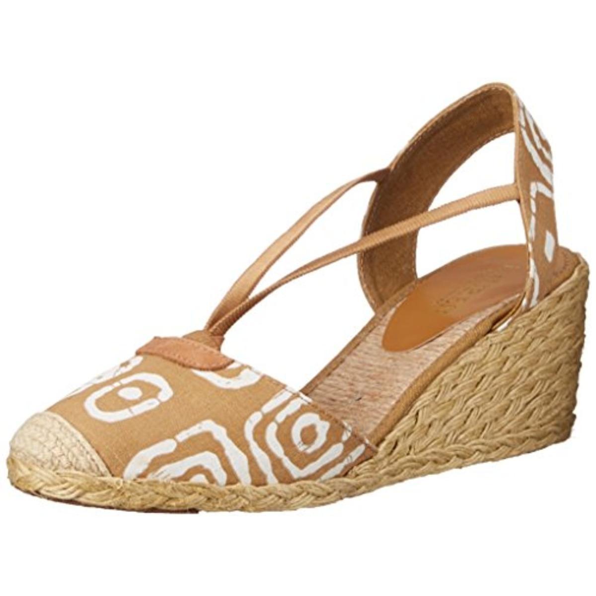 ralph 2562 womens linen wedge sandals shoes 9 5