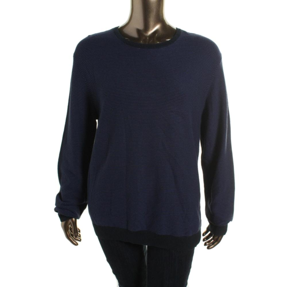 Calvin Klein Ribbed Knit Long Sleeves Pullover Sweater