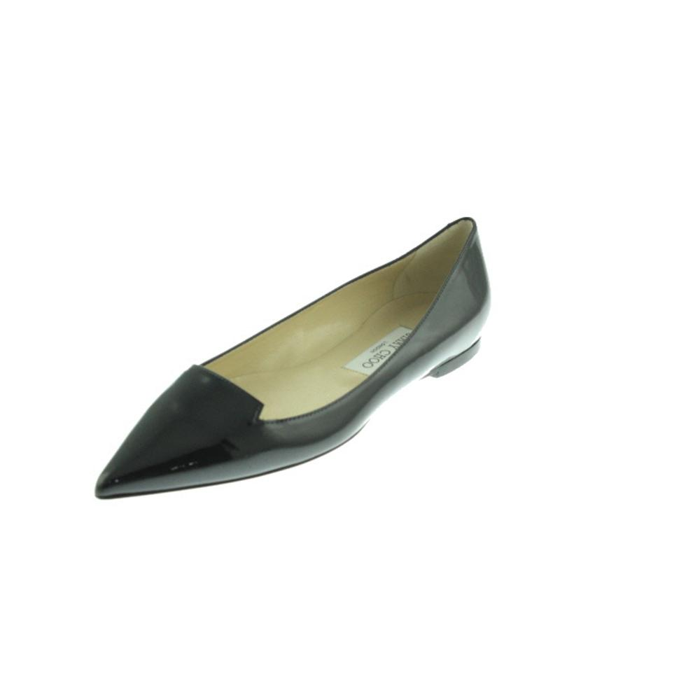 jimmy choo 6343 new womens black patent leather pointy toe