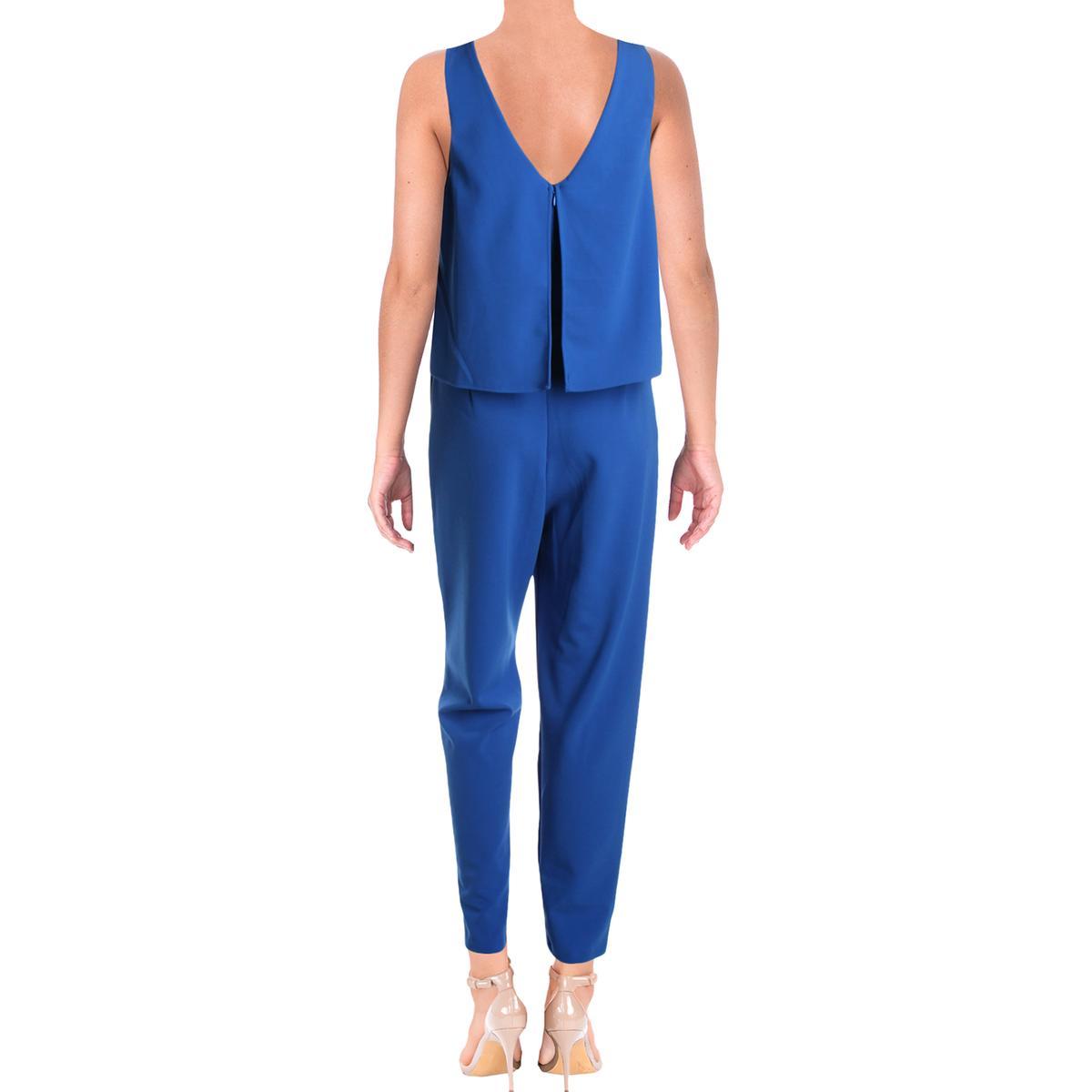 Aqua Womens Cora Popover Straight Leg Dressy Jumpsuit BHFO 7046